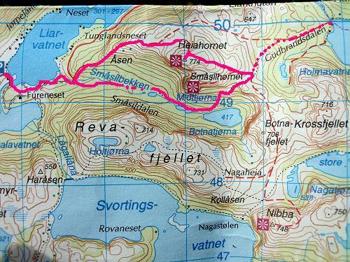 Kart over traseen vår